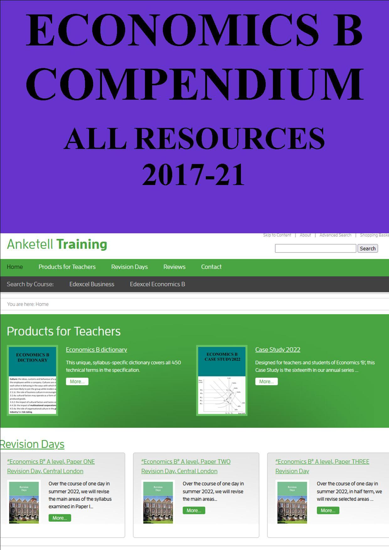 Economics B compendium
